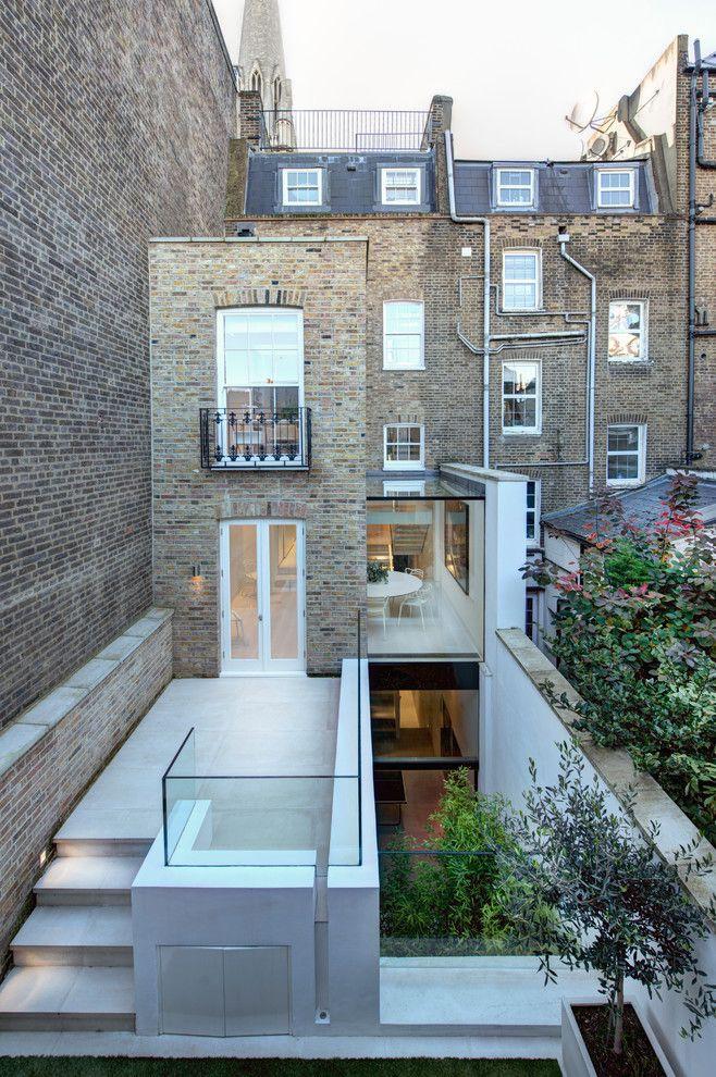 Modern Extension To Victorian House Patio Contemporary With Stone Steps Glass Balkon Dekorasyonu Balkon Dekorasyon Fikirleri