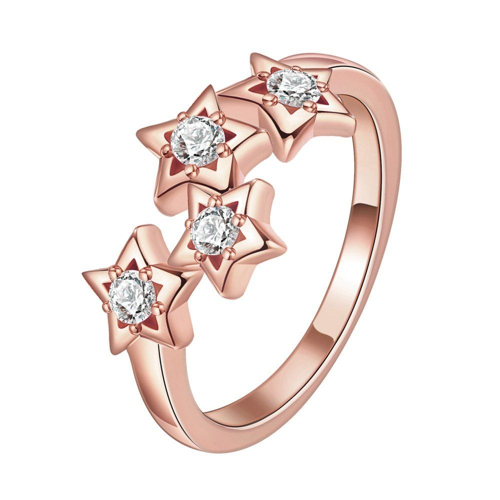 5e96966c3 LuckyWeng Womens New Exquisite Fashion Jewelry Gold FivePointed Star Zircon  Wedding Ring -- Check out this great product. (Note:Amazon affiliate link)