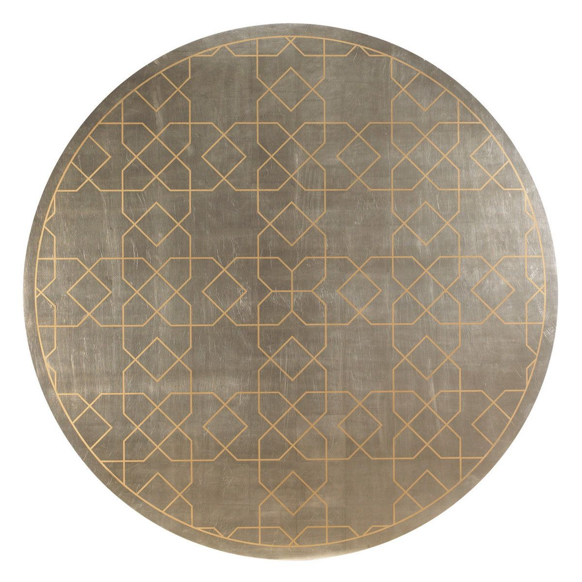 Dinner table top view - Trellis Silver Leaf Dining Table Max Sparrow