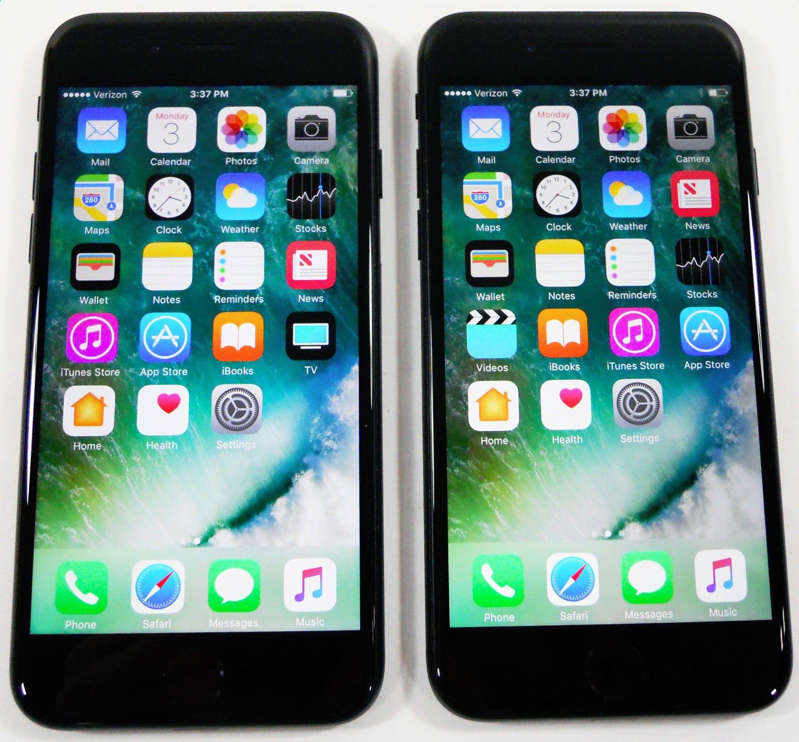 New post 2x Apple iPhone 7 128GB Jet Black GSM Unlocked Smartphones Verizon AT i ebayimg Item specifics Condition Used An item that has been