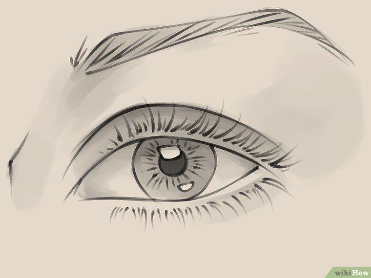 Desenhar Um Olho Feminino Realista Olhos Desenho