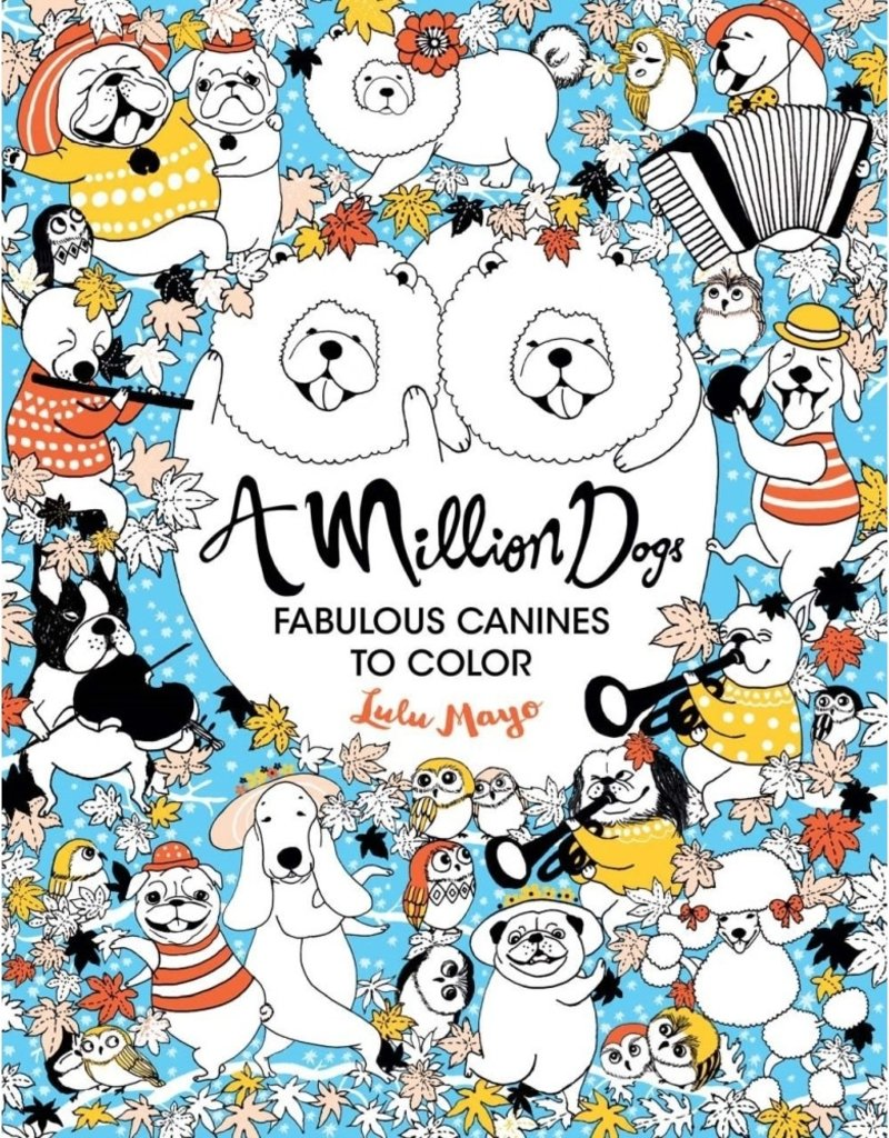 Coloring Book A Million Dogs Collage Dog Coloring Book Coloring Books Art Gift