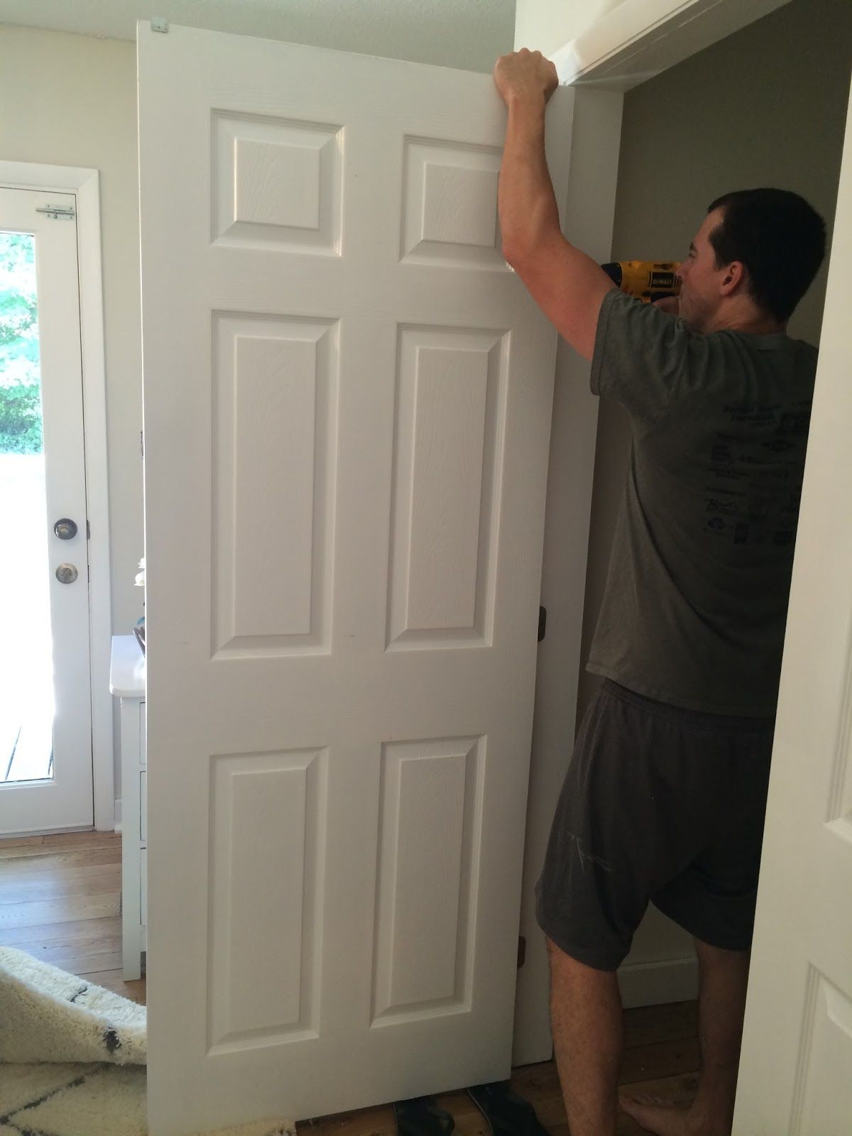 DIY Closet Door Update How To Your Old Bi Fold Doors Modern French Love The Little Added Touch Of Pulls Too