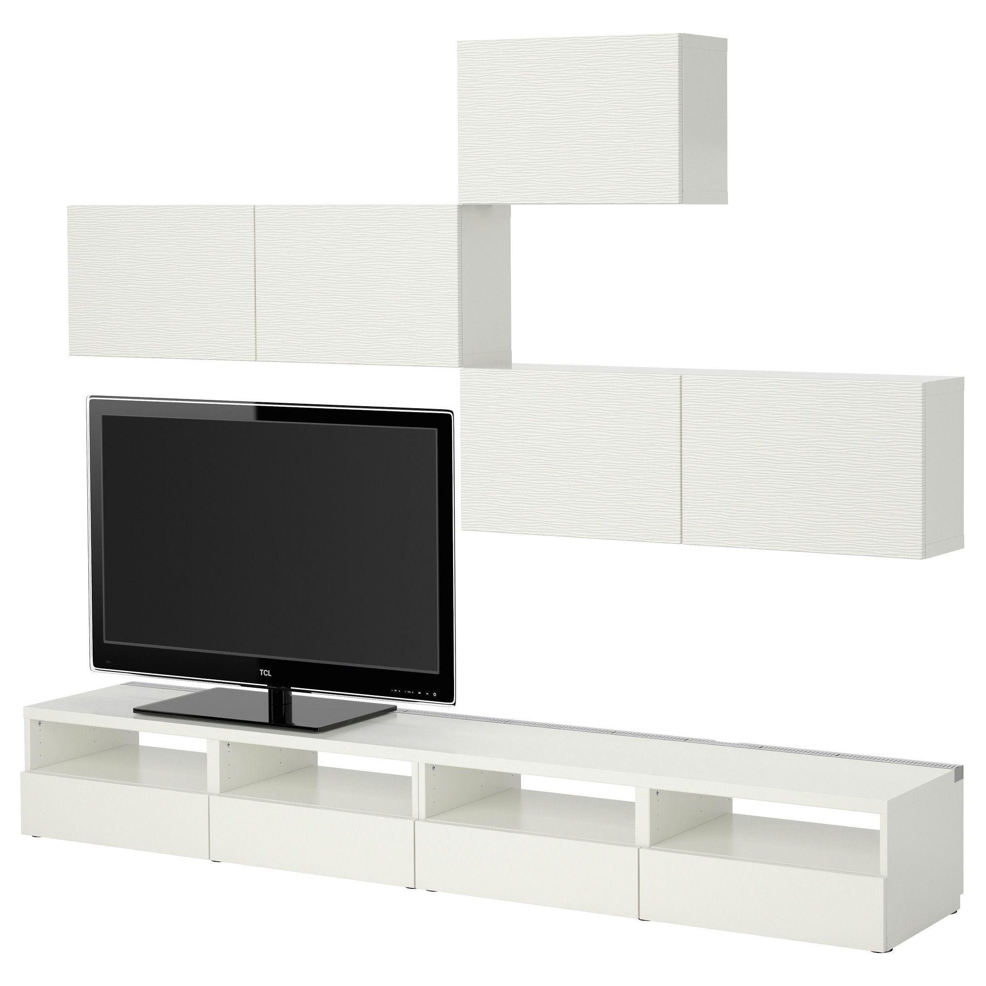 Best Tv Storage Combination Laxviken White Ikea Home Ideas  # Petit Meuble Tv But