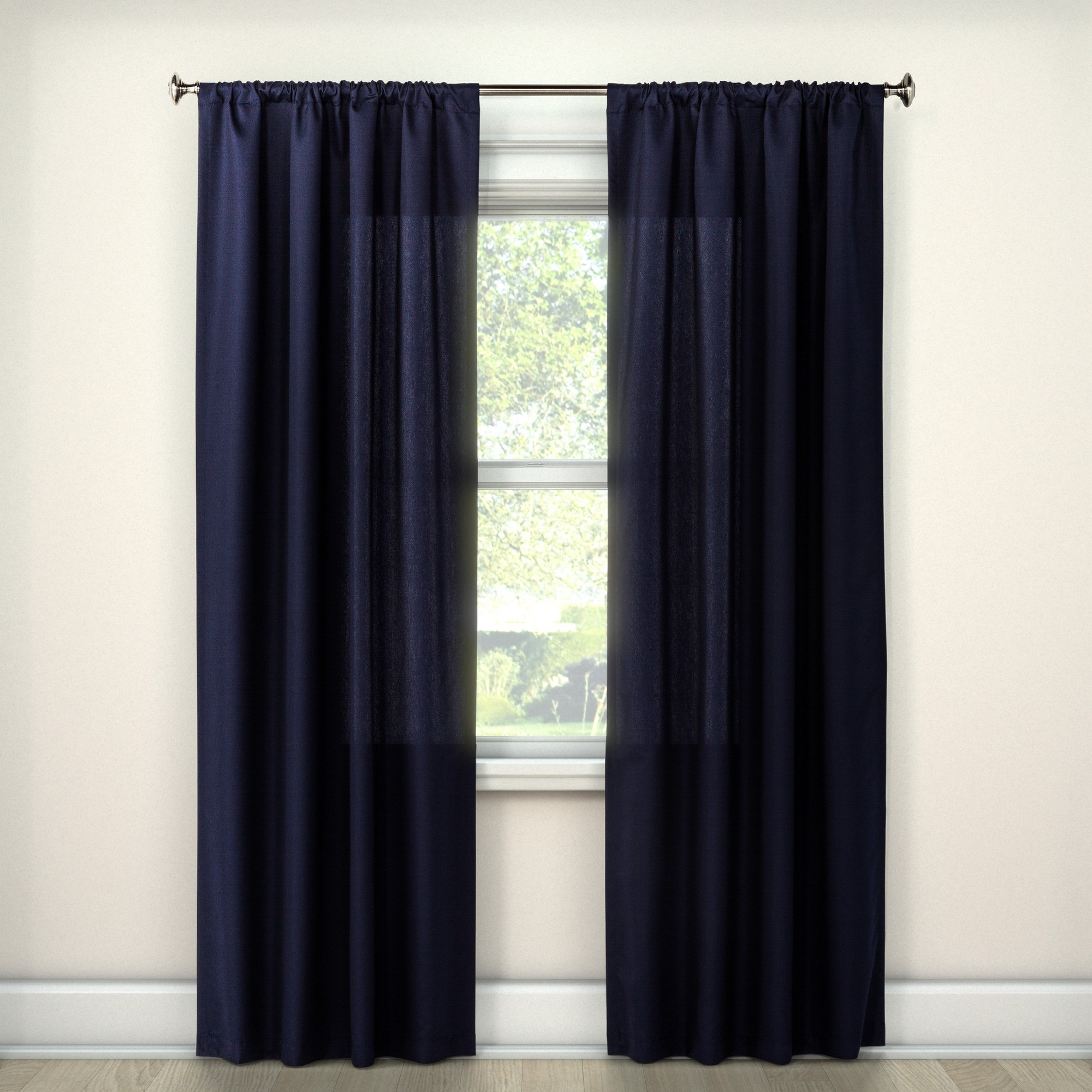 "Twill Curtain Panel Navy (Blue) (42""x 63"")"