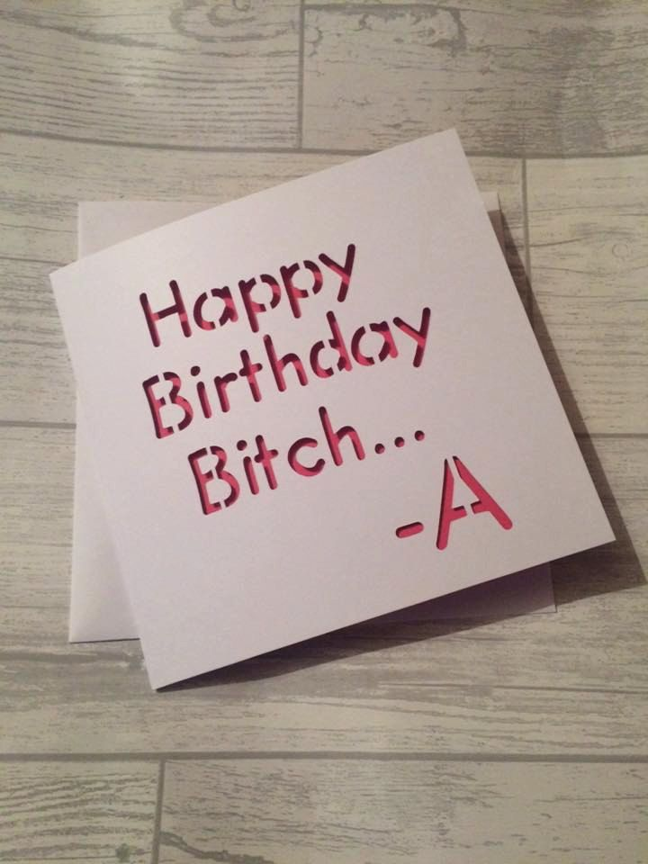 Pretty little liars, birthday card, card for her, netflix fan ...