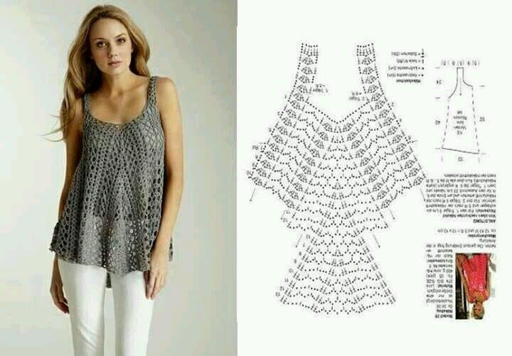 blusas sin mangas tejidas a crochet!! | crochet | Pinterest | Blusas ...