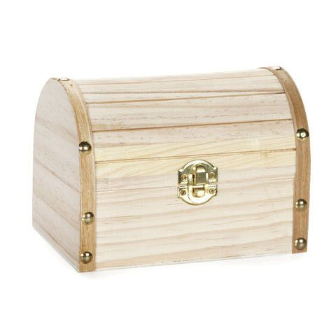 Unfinished Wood Treasure Chest Box Wood Chest Wooden Chest Wood Hinges