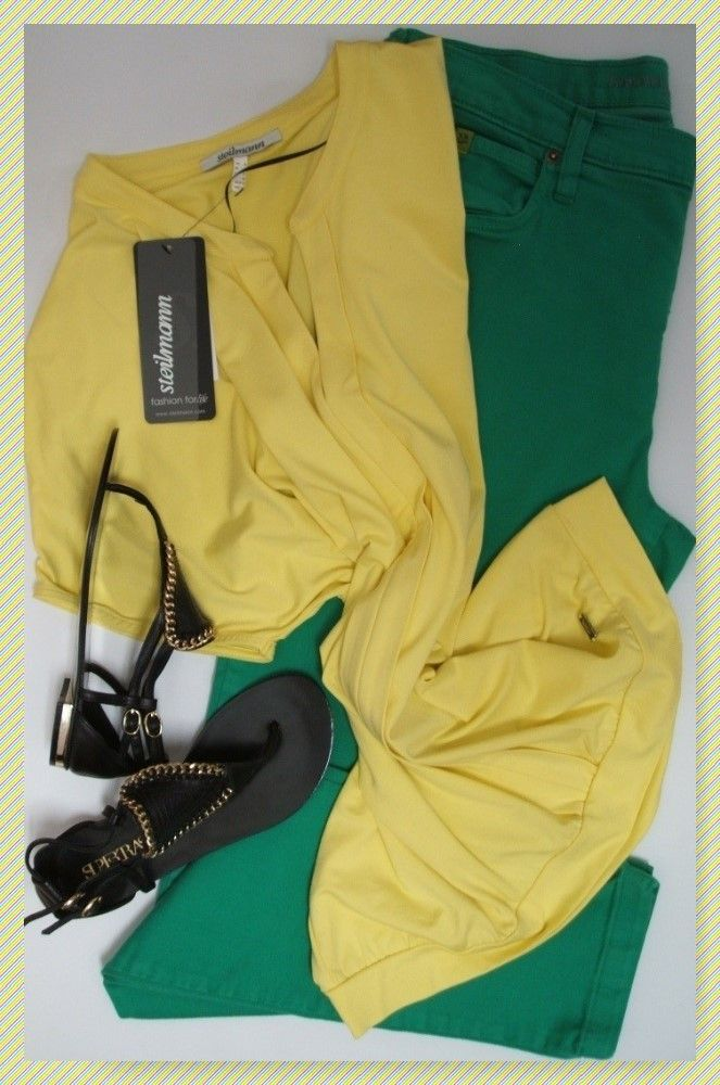 Yoga green skinny #jeans, size 16, Steilmann tunic top, size 14 & Supertrash sandals, size 6 new in box. #summerstyle