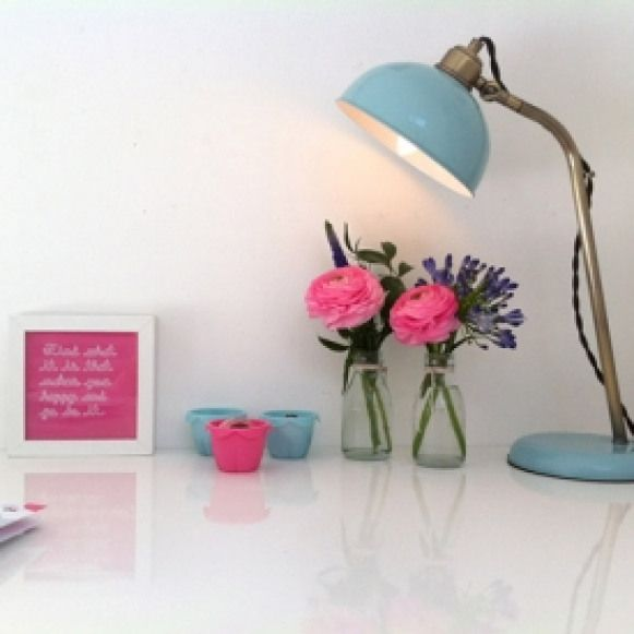 A White With Brights Home Office. Check Out This Gorgeous