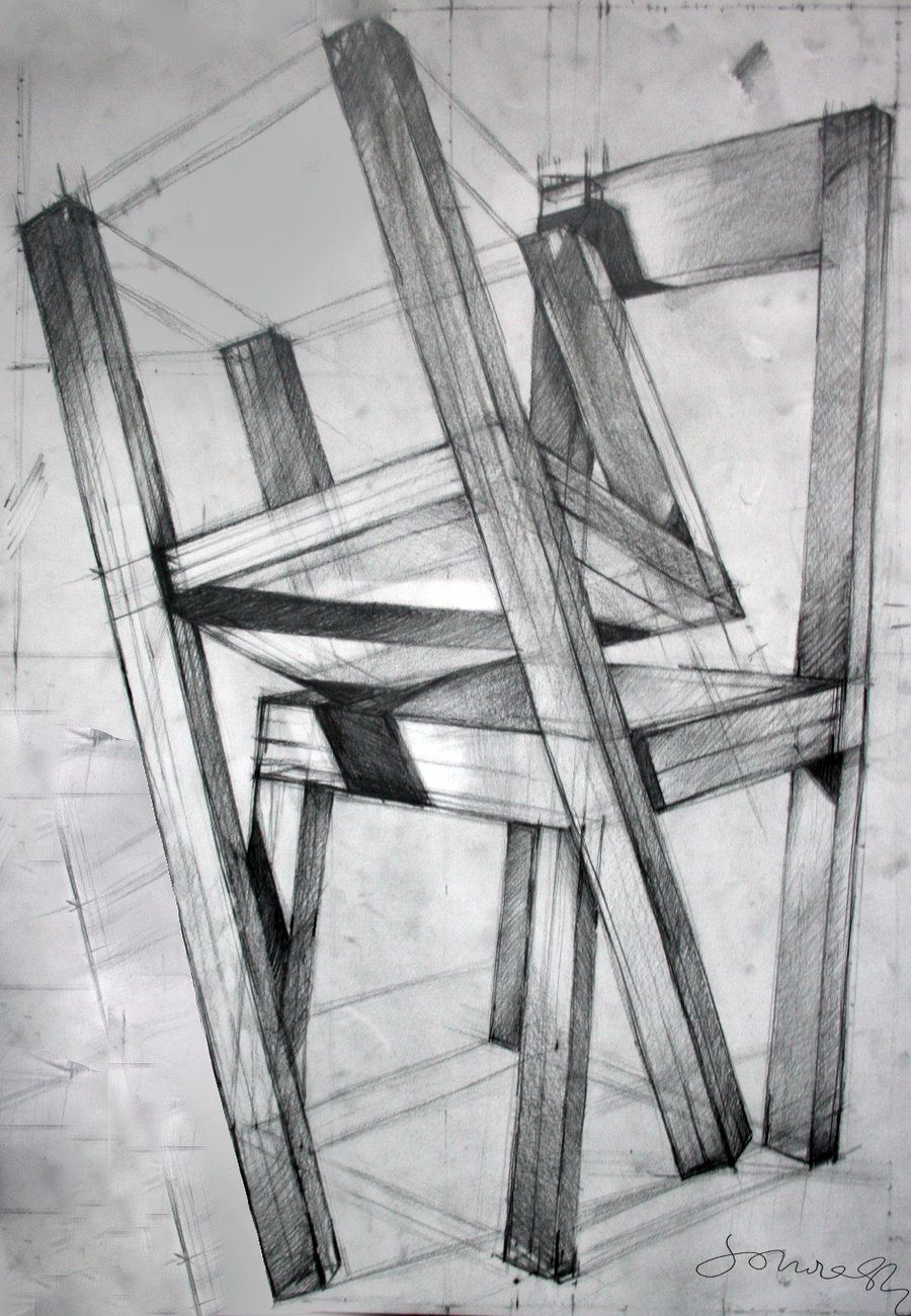 Room Drawing Pencil: Chairs, Pencil Drawing 70x100 By ~SoniaSh On DeviantART