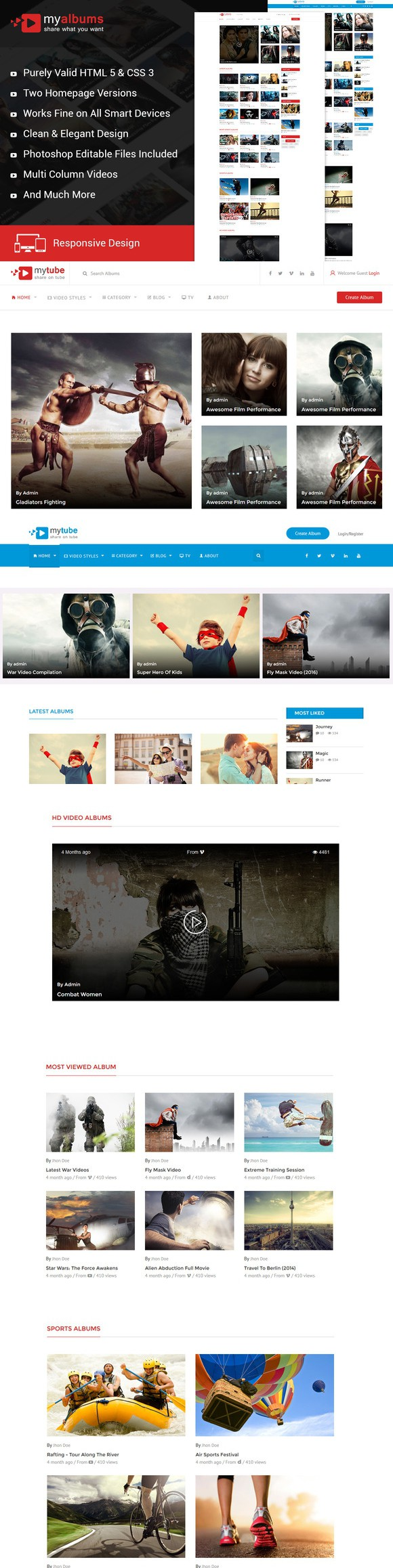 My Tube Video Theme Html Template Template