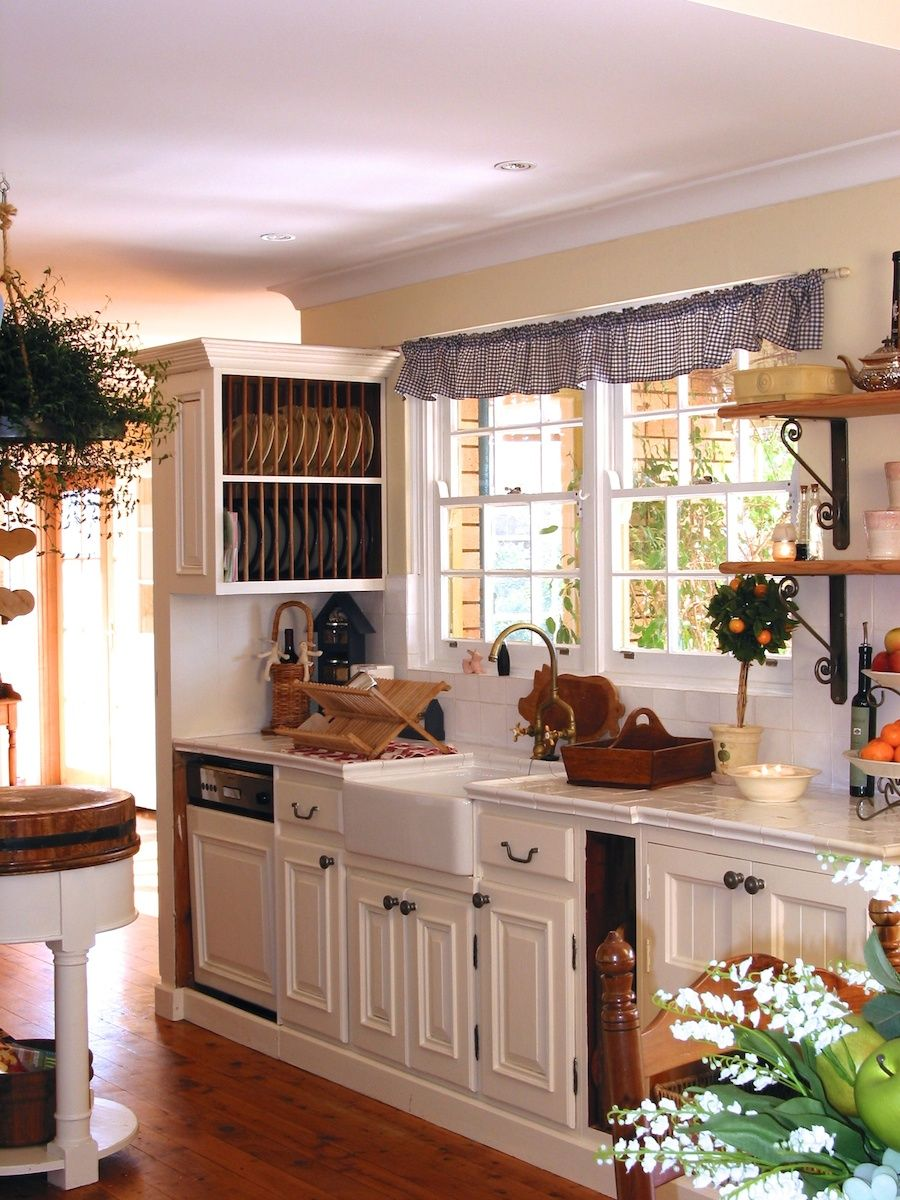 Kitchen. Cheerful French Country Kitchen With A Couple Of Frame ...