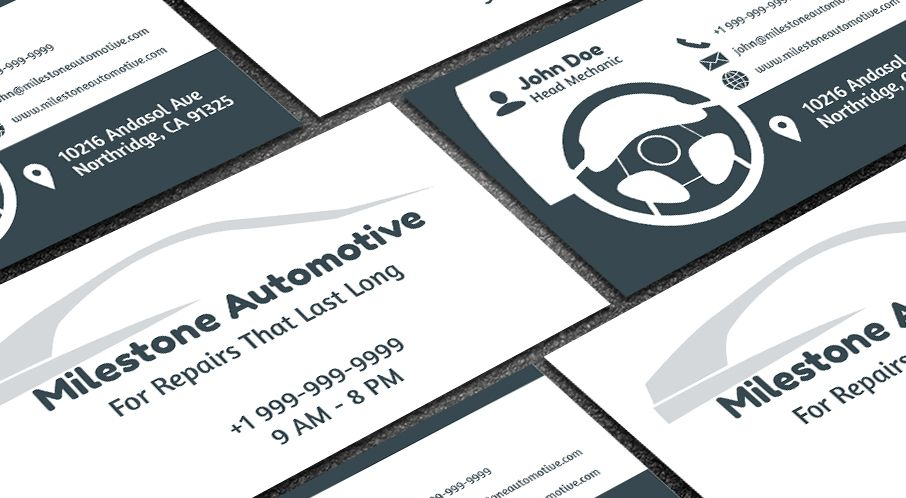 Edit this auto repair card template online with your branding edit this auto repair card template online with your branding images details to get a unique ready to print business card design within minu reheart Gallery