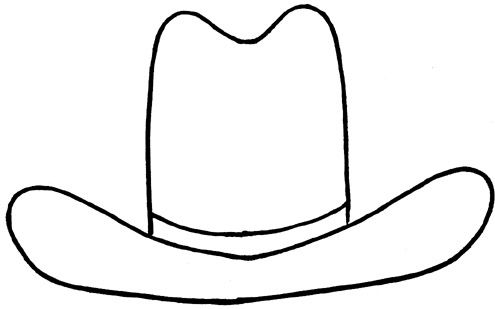cowboy hat outline clipart best diy projects to try pinterest rh pinterest com au