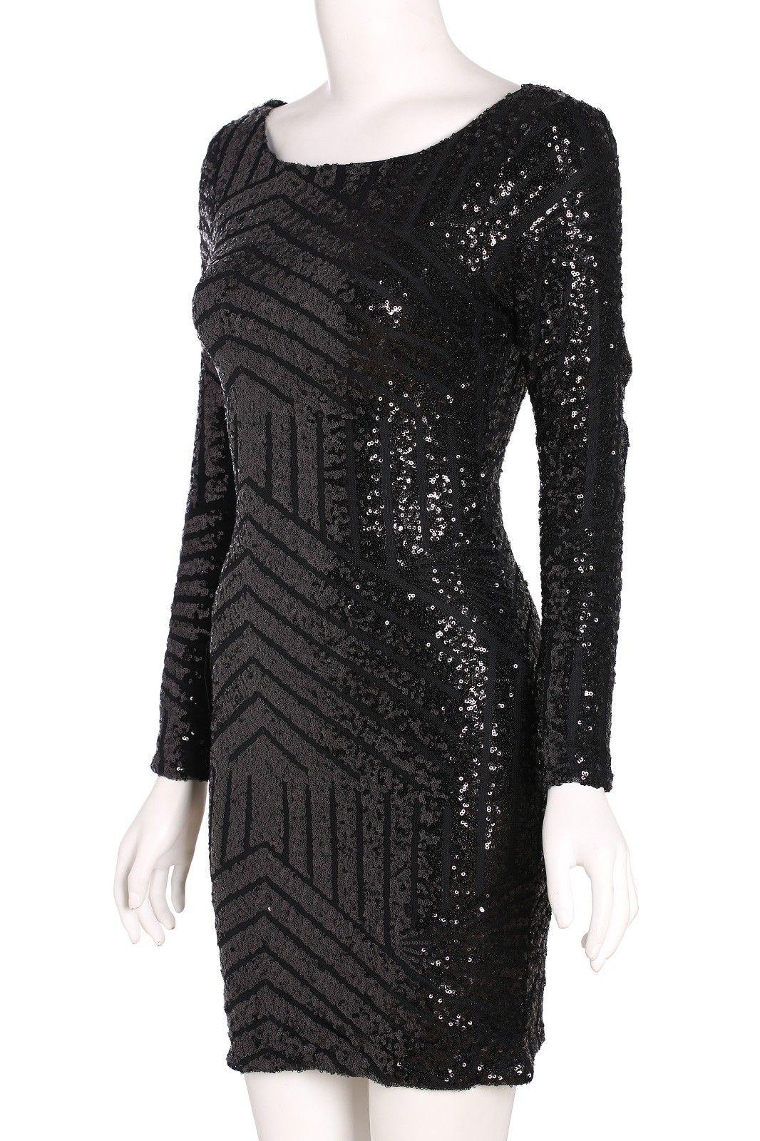 Posh girl black open back sequence dress posh girl fashion