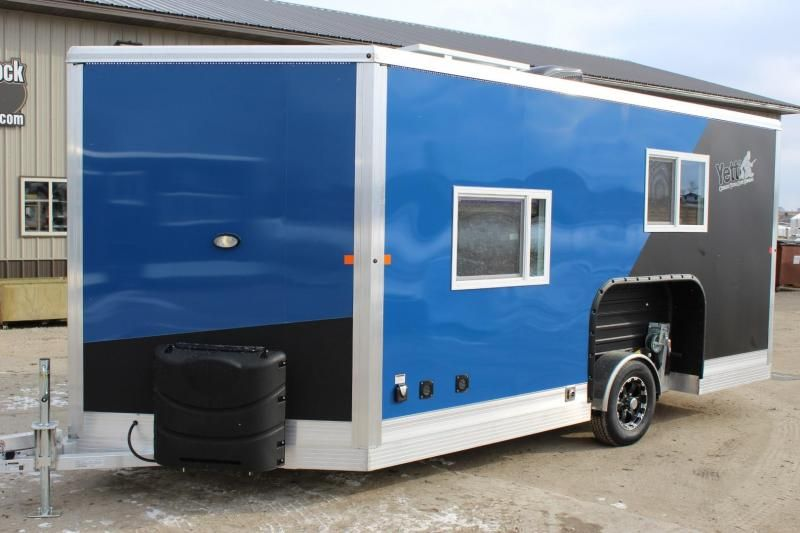 This Trailer Is Pretty Cool It S Called A Fish House And I M Pretty Sure You Use It When You Go Ice Fishing Having A Trailer To Fish House Lake Dock