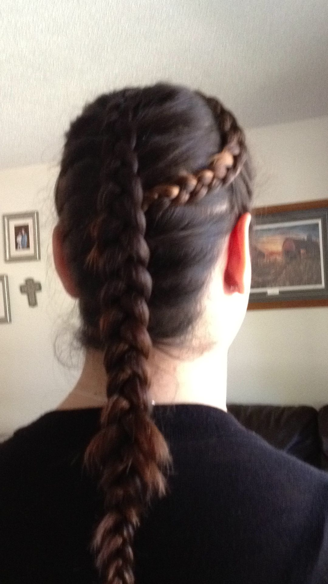 Braided Head Band Connected To An Inverted French Braid! (inside Out French  Braid)