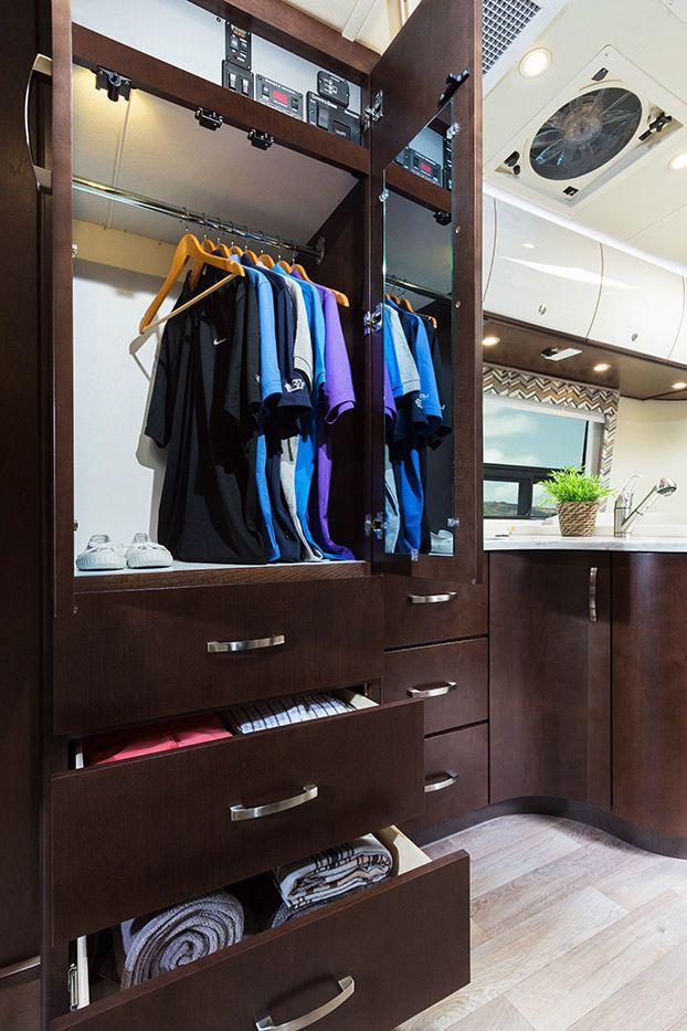 2015 Serenity Shown In 50th Anniversary Decor Package Espresso Brown Cabinets Gloss Cream Upper Cabinets White Cor Luxury Rv Leisure Travel Vans Travel Van