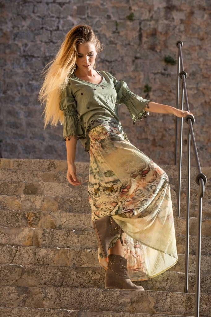 Blouse Coins Isla Ibiza Army - Ibizamode