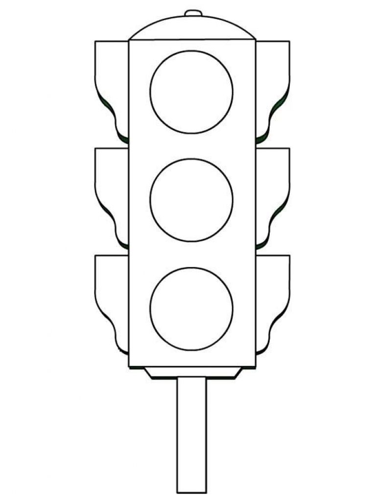 stop light coloring page # 0