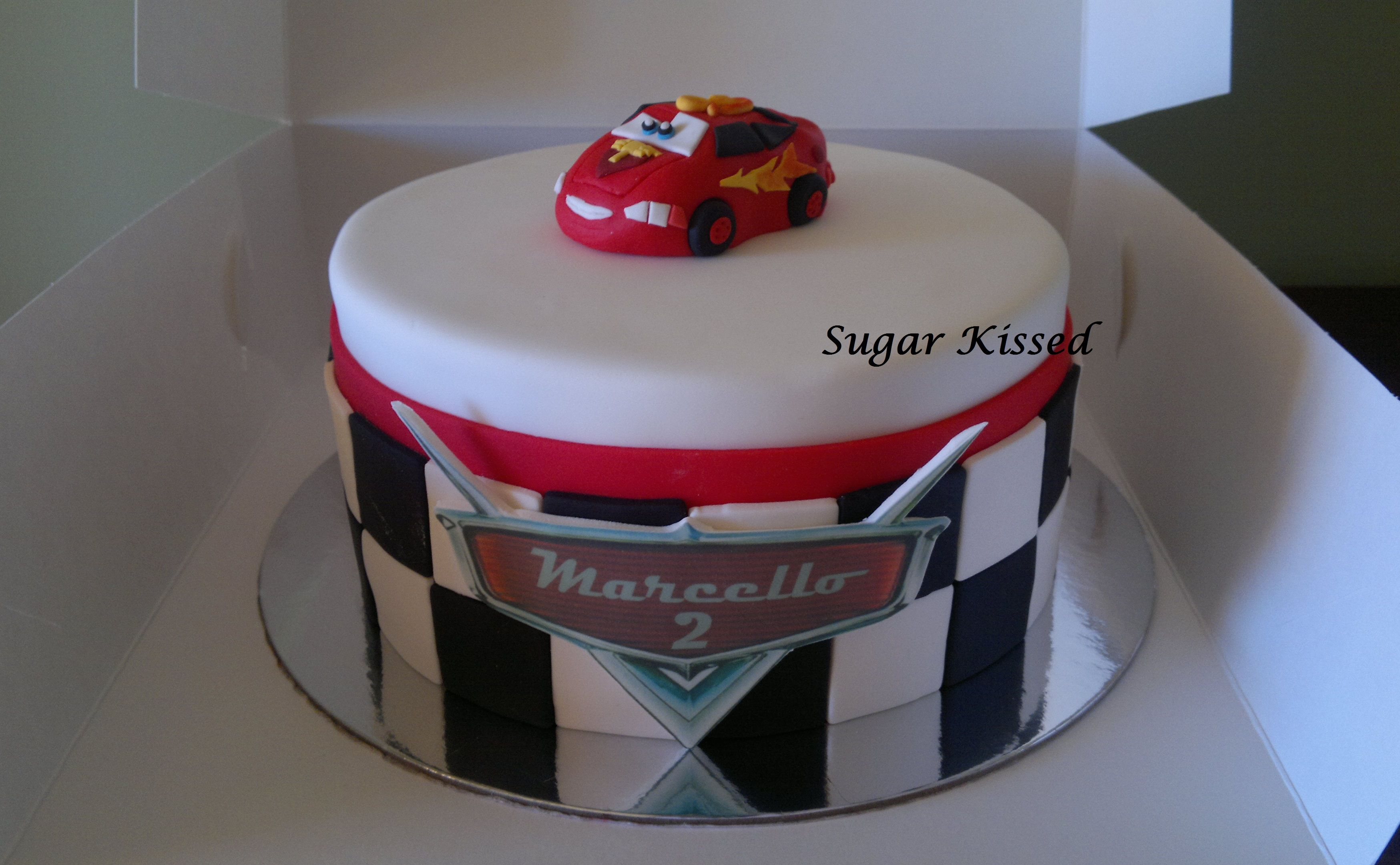 A Lightning McQueen themed cake created by Shandi Sansom from