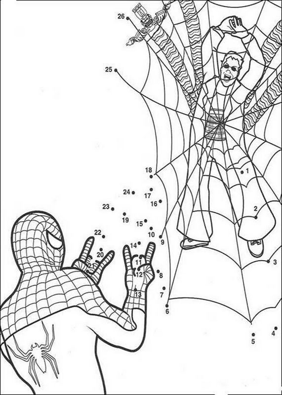 Coloriage De Spiderman Dessin Coloriages Magiques Spiderman A Colorier Coloriage Spiderman Coloriage Magique Coloriage