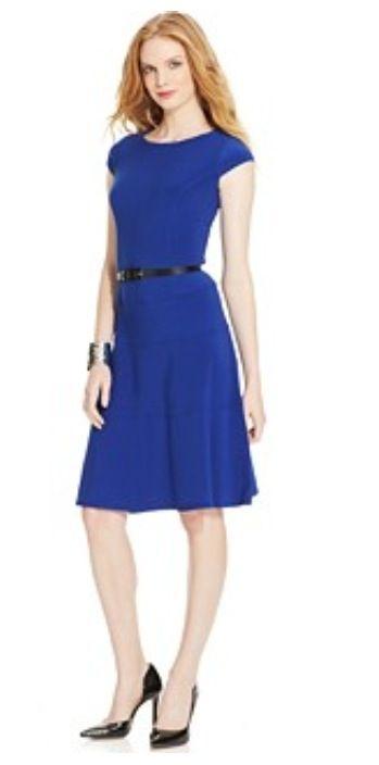 329cf89a8 Vestido azul pavo Anne Klein Más