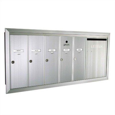 1260 Series Vertical Mailbox Unit With Outgoing Mail Slot Color Postal Grey Powder Coat Number Of Compartments Doo Home Safety Home Security Locker Storage