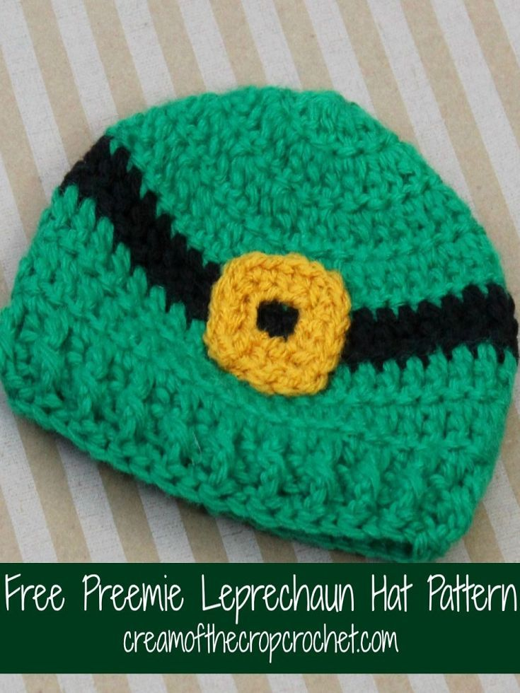 47365d138a4 Preemie Leprechaun Hat Pattern by Cream of the Crop Crochet