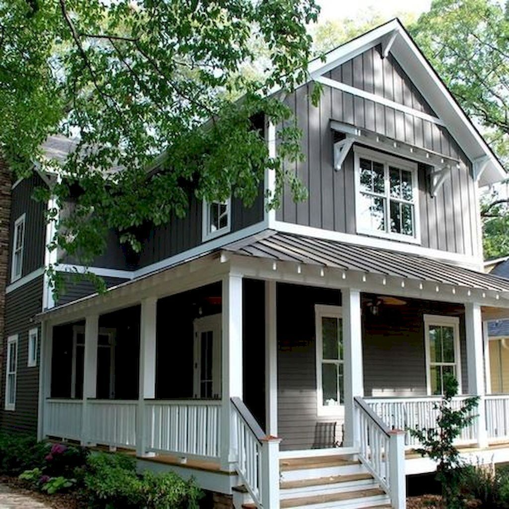 65 stunning farmhouse porch railing decor ideas 61