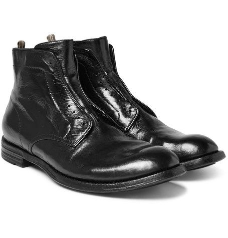 Officine creative POLISHED LEATHER BOOTS