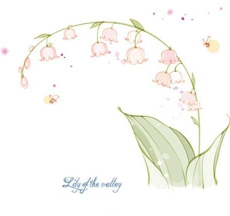 Free Hand Drawn Lily Of The Valley Vector Illustration Vectors