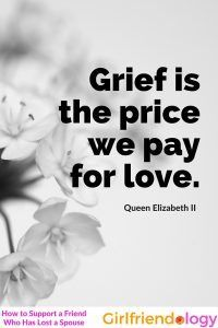How to support grieving spouse