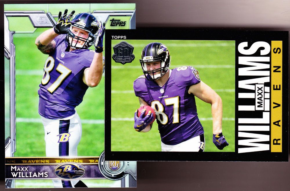 BALTIMORE RAVENS LOT OF 2 2015 TOPPS MAXX WILLIAMS ROOKIES 60TH ANNIVERSARY
