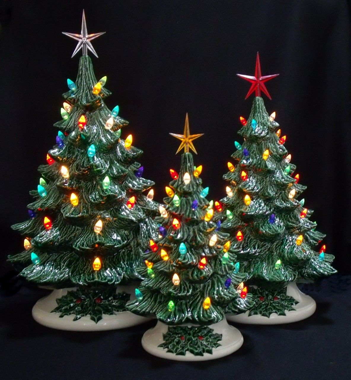 Ceramic Christmas Tree Decorations.Ceramic Christmas Trees Christmas Vintage Ceramic