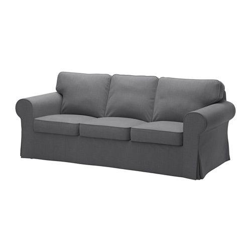 Eckbettsofa leder  Ektorp | Ektorp sofa, Dark grey and Ektorp sofa cover