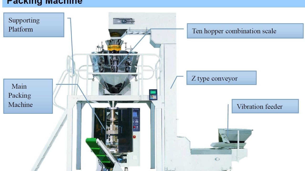 vertical pouch packing machine automatic multi-head Oat packaging machine