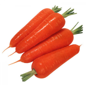 With carrots.