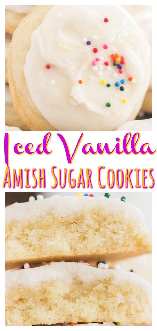 Iced Vanilla Amish Sugar Cookies