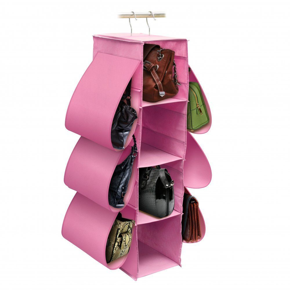 Closet Organizer Purse Handbag Storage Hanging Shelf Pink Bedroom Home Decor #HomeLocomotion #http://stores.ebay.com/Inviting-Life