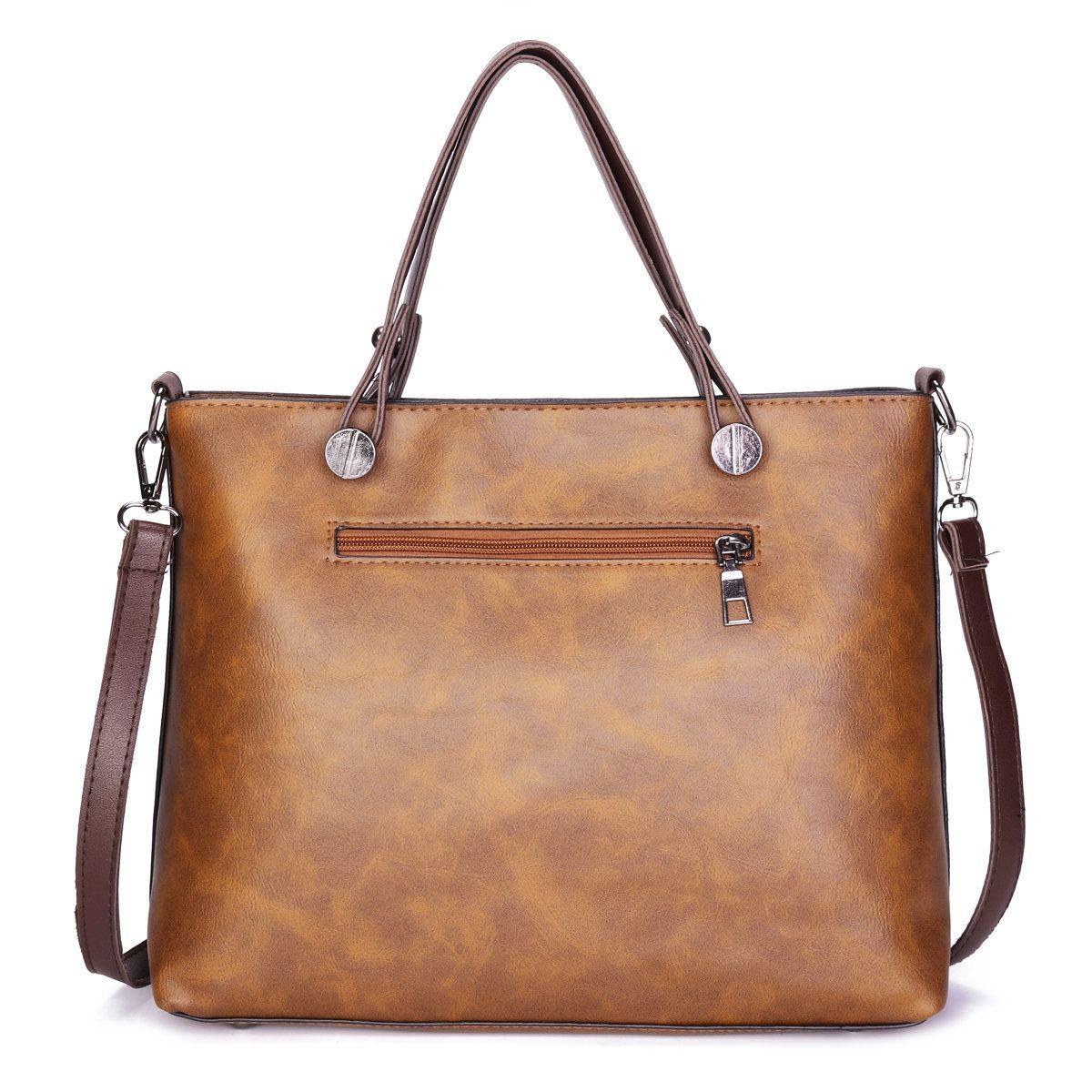 Women Retro Solid Tote Bags Dating Weekender Bag men women bags fashion 53a7029e0d285