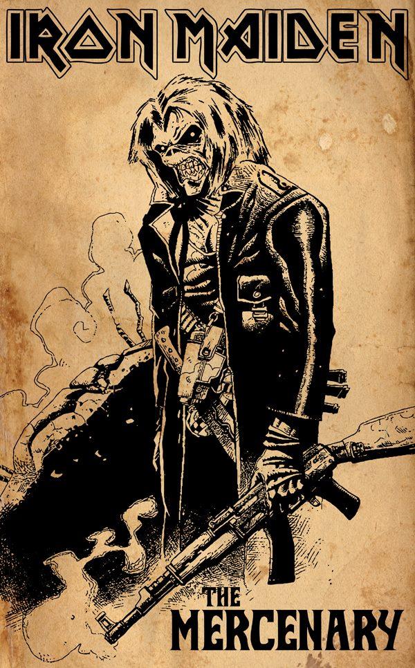 The Mercenary By Crusader Art Iron Maiden Posters Iron Maiden Tattoo Iron Maiden Albums