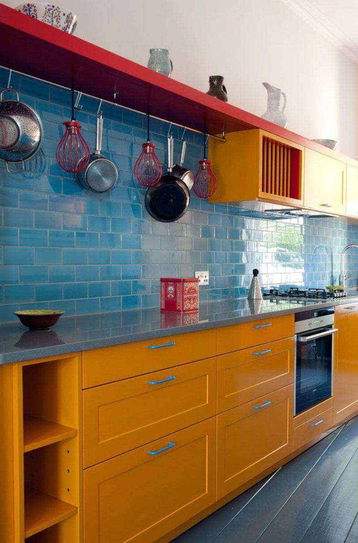 Küchenfarbe ideen gelb neue bunte küchentrends die  bombardieren werden  interior
