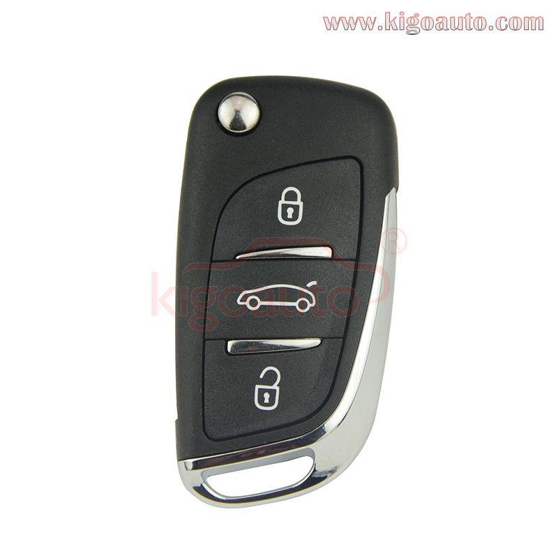 2 New Car Fob Keyless Remote 4B Chrome For 2007 2008 2009 2010 Cadillac Escalade