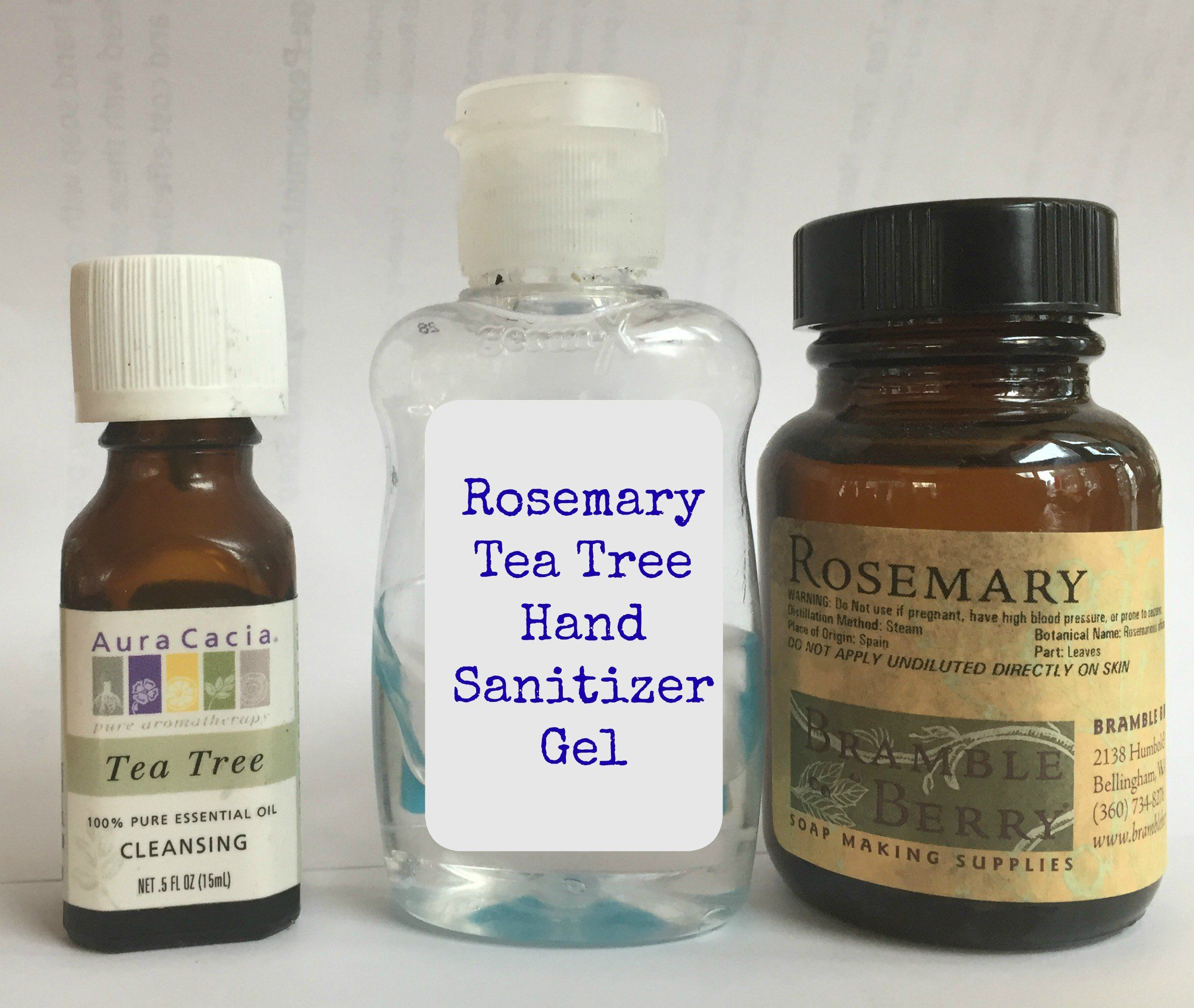 Natural Solutions Diy Home Rosemary Tea Tree Hand Sanitizer Gel