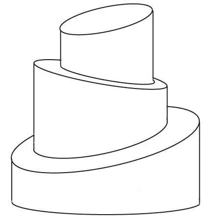 Template For Cake Design : 3 tier Topsy turvy template Topsy Turvy Design Templates ...