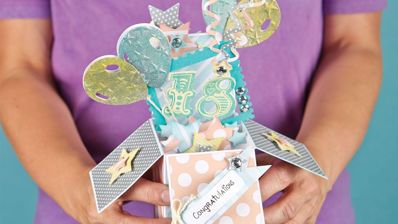 Heres How To Make The Basic Parts Of A Pop Up Box Card Card