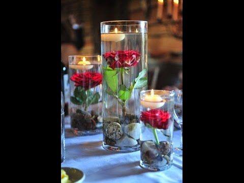 Diy Vase Centerpieces Laxmi Jakkal Easy Affordable Options Youtube Floating Candle Centerpieces Wedding Floating Candle Centerpieces Diy Vase