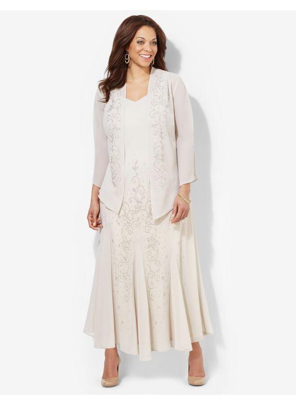 4afcad0b1f7 Plus Size 1930s Style Dresses - Plus Size Majesty Jacket Dress Catherines  Women s Size 18W